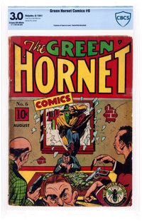 Green Hornet Comics #6 (Holyoke, 1941) CBCS GD/VG 3.0 Cream to off-white pages