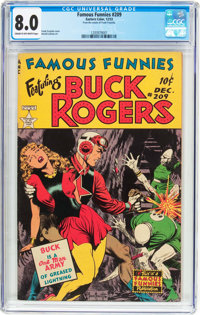 Famous Funnies #209 Frank Frazetta Copy (Eastern Color, 1953) CGC VF 8.0 Cream to off-white pages
