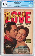 Golden Age (1938-1955):Romance, Personal Love #25 Frank Frazetta Copy (Famous Funnies Publications,1954) CGC VG+ 4.5 Cream to off-white pages....