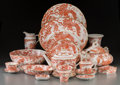 Ceramics & Porcelain, British:Contemporary   (1950 to present)  , A One Hundred and Twenty-Four Piece Royal Crown Derby RedAves Pattern Porcelain Dinner Service, designed 1936. ...(Total: 124 Items)