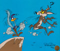 "Animation Art:Limited Edition Cel, Road Runner and Wile E. Coyote ""Cliffhanger"" Limited Edition Cel AP#17/25 (Warner Brothers, 1980).... (Total: 2 Items)"