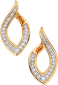 Estate Jewelry:Earrings, Diamond, Platinum, Gold Earrings, Oscar Heyman Bros.. ...