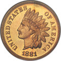 Proof Indian Cents, 1881 1C PR67 Red NGC....