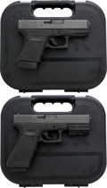 Handguns:Semiautomatic Pistol, Lot of Two Cased Glock Semi-Automatic Pistols.... (Total: 2 Items)