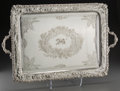 Silver Holloware, British:Holloware, A Mappin & Webb Silver-Plated Serving Tray, circa 1900. Marks:MAPPIN & WEBB. 18-1/2 inches high x 29-1/4 inches wide(4...