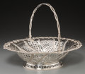 Silver Holloware, British:Holloware, A Crichton Brothers English Silver Basket, 1917. Marks: (lionpassant), (leopard), b, LAC; CRICHTON BROS, LONDON & NEWYORK...