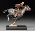Fine Art - Sculpture, American:Contemporary (1950 to present), Harry Andrew Jackson (American, 1924-2011). Pony ExpressIII, 1977. Bronze with polychrome patina. 8-1/2 inches (21.6cm...