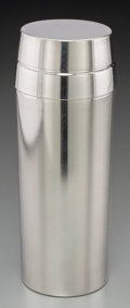 Decorative Arts, Continental, A Wilhelm Wagenfeld for WMF Silver-Plated Cocktail Shaker,Geislingen, Germany, circa 1950. Marks: NS, (WMF logotype).7...
