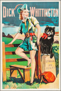 """Movie Posters:Animation, Dick Whittington's Cat (1920s-1930s). British Theater Poster (40"""" X60.25""""). Flat Folded. Animation.. ..."""
