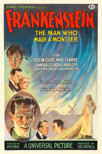 "Frankenstein (Universal, 1931). One Sheet (27"" X 41"") Style A"
