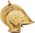 Estate Jewelry:Watches, Gübelin Enamel, Gold Covered Dial Pendant-Watch. ...