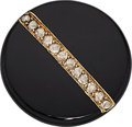 Estate Jewelry:Brooches - Pins, Antique Diamond, Black Onyx, Gold Brooch, French. ...