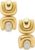 Estate Jewelry:Earrings, Diamond, Gold Earrings, Marlene Stowe. ...