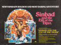 """Movie Posters:Fantasy, Sinbad and the Eye of the Tiger (Columbia-Warner, 1977). BritishQuad (30"""" X 40"""") & Uncut Pressbook (13"""" X 16""""). Fantasy.. ...(Total: 3 Items)"""