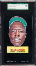 Baseball Cards:Singles (1960-1969), 1967 Topps Stand-Up Hank Aaron (Unperforated) #20 SGC 80 EX/NM6....