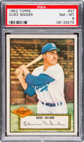 Baseball Cards:Singles (1950-1959), 1952 Topps Duke Snider (Red Back) #37 PSA NM-MT 8....