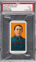 Baseball Cards:Singles (Pre-1930), 1909-11 T206 Broad Leaf 350 Miller Huggins (Portrait) PSA VG+ 3.5 -Only Four Graded Examples. ...