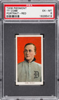 Baseball Cards:Singles (Pre-1930), 1909-11 T206 Piedmont Ty Cobb (Red Portrait) PSA EX-MT 6....