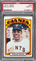 Baseball Cards:Singles (1970-Now), 1972 Topps Willie Mays #49 PSA Mint 9....