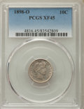 Barber Dimes: , 1898-O 10C XF45 PCGS. PCGS Population: (21/90). NGC Census: (4/64). Mintage 2,130,000. ...