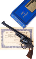 Handguns:Double Action Revolver, Scarce and Desirable High Condition Smith & Wesson .357 Registered Model Revolver with Original Box and Certificate.. ... (Total: 4 Items)