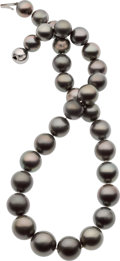 Estate Jewelry:Pearls, South Sea Cultured Pearl, White Gold Necklace. ...