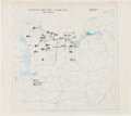 Military & Patriotic:WWII, General Omar Bradley's D-Day Map for Operations Overlord andNeptune....