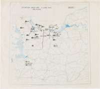 General Omar Bradley's D-Day Map for Operations Overlord and Neptune