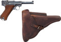 Handguns:Semiautomatic Pistol, German S/42 Code 1937 Luger Semi-Automatic Pistol with LeatherHolster.... (Total: 2 Items)