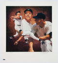 Autographs:Photos, Mickey Mantle Signed Lithograph. ...
