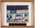 Baseball Collectibles:Photos, Ted Williams Multi-Signed Photograph - 1993 First Game at City of Palms Park....