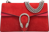 """Gucci Red Suede & Leather Dionysus Bag Excellent Condition 10.5"""" Width x 6.5"""" Height x 2.5"""" Depth"""