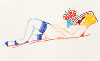 Tom Wesselmann (1931-2004) Untitled (Nude with Bouquet and Stockings), 1991 Screenprint in colors on