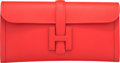 "Luxury Accessories:Bags, Hermes Rouge Tomate Swift Leather Jige Elan Clutch Bag. X, 2016.Pristine Condition. 11"" Width x 5.5"" Height x 1"" Depth..."