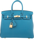 "Luxury Accessories:Bags, Hermes 25cm Cobalt Togo Leather Birkin Bag with Gold Hardware.X, 2016. Pristine Condition. 10"" Width x 8"" Height x 5""Dep..."