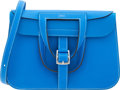 "Luxury Accessories:Bags, Hermes 31cm Blue Hydra Clemence Leather Halzan Bag with PalladiumHardware. X, 2016. Pristine Condition. 12""Width..."