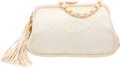 "Luxury Accessories:Bags, Chanel White Quilted Satin Evening Bag. Good Condition. 7"" Widthx 5"" Height x 2.5"" Depth. ..."