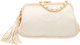 """Chanel White Quilted Satin Evening Bag Good Condition 7"""" Width x 5"""" Height x 2.5"""" Depth"""
