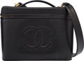 "Luxury Accessories:Bags, Chanel Black Caviar Leather Cosmetics Case. ExcellentCondition. 11.5"" Width x 9"" Height x 8"" Depth. ..."