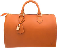 "Louis Vuitton Natural Nomade Leather Speedy Bag Excellent Condition 13"" Width x 8.5"" Height x 7"""
