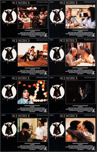 "Moonstruck & Other Lot (MGM, 1987). Lobby Card Sets of 8 (2 Sets) (11"" X 14""). Comedy. ... (Total: 16 Item..."