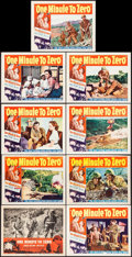 "Movie Posters:War, One Minute to Zero (RKO, 1952/R-1956). Lobby Card Set of 8 (11"" X14"") & Lobby Card (11"" X 14"") War.. ... (Total: 9 Items)"