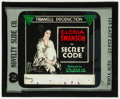 "Movie Posters:Drama, The Secret Code (Triangle, 1918). Glass Slide (3.25"" X 4""). Drama....."