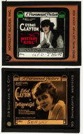"""Movie Posters:Crime, The Mystery Girl & Others Lot (Paramount, 1918). Glass Slides(5) (2.5"""" X 3"""" & 3.25"""" X 4""""). Crime.. ... (Total: 5 Items)"""