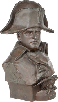 After Renzo Colombo (French/Italian, 1856-1885) Bust of Napoleon Bronze with brown patina 22 inch