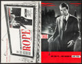 "Movie Posters:Hitchcock, Rope & Other Lot (Warner Brothers, 1948). Uncut Pressbook (36Pages, 11"" X 17"") & Program (10"" X 13""). Hitchcock.. ...(Total: 2 Items)"