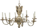 Lighting:Chandeliers, A Dutch Baroque-Style Silver-Plated Seven-Light Chandelier. 20-1/2 inches high x 31-1/2 inches diameter (52.1 x 80.0 cm). ...