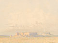 Fine Art - Painting, American, George Elbert Burr (American, 1859-1939). Pair of PlateauViews, 1961; 1989. Crayon on paper, each. 10-1/4 x 14 inches(... (Total: 2 Items)