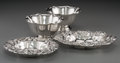 Silver Holloware, American:Bowls, Two Whiting Silver Repoussé Bowls with Two American SilverFloriform Bowls, 20th century. Marks: (griffin-W),STERLING;... (Total: 4 Items)