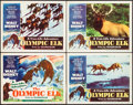 "Movie Posters:Documentary, The Olympic Elk & Others Lot (RKO, 1952). Lobby Card Set of 4 (11"" X 14"") & One Sheets (3) (27"" X 41""). Documentary.. ... (Total: 7 Items)"
